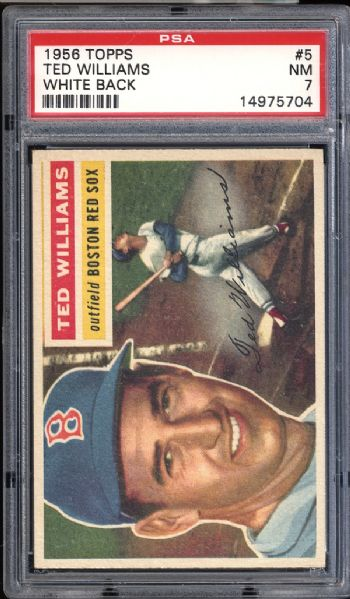 1956 Topps #5 Ted Williams PSA 7 NM