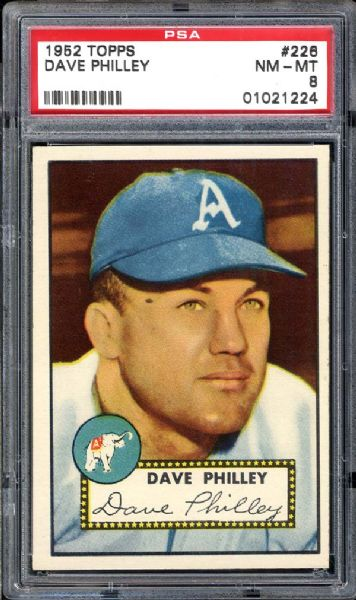 1952 Topps #226 Dave Philley PSA 8 NM/MT
