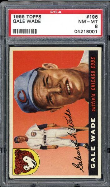 1955 Topps #196 Gale Wade PSA 8 NM/MT