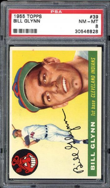 1955 Topps #39 Bill Glynn PSA 8 NM/MT