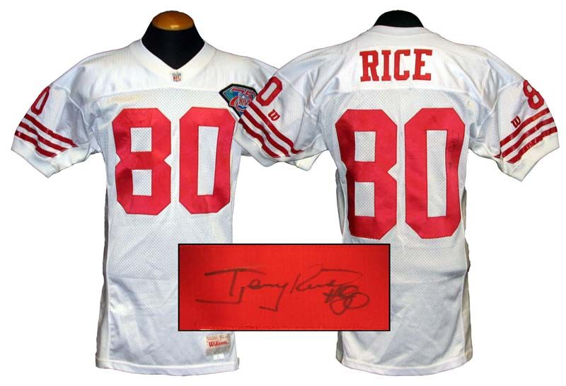 reputable site 9845b 8b013 san francisco 49ers jerry rice jersey
