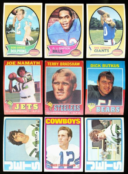 1970/1971/1972 Topps Football Complete Sets