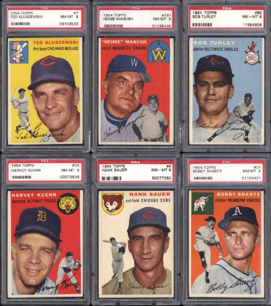 1954 Topps Group of (31) Mostly Different All PSA Graded