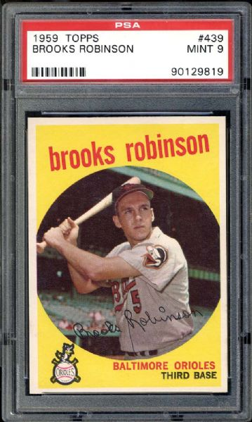 1959 Topps #439 Brooks Robinson PSA 9 MINT