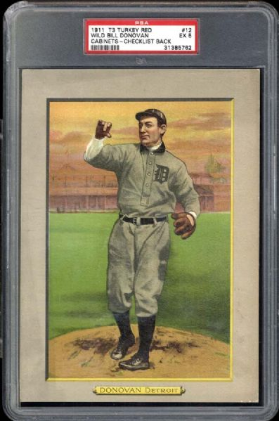 1911 T3 Turkey Red #12 Wild Bill Donovan PSA 5 EX