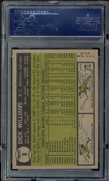 1961 Topps #8 Dick Williams PSA 10 GEM MINT