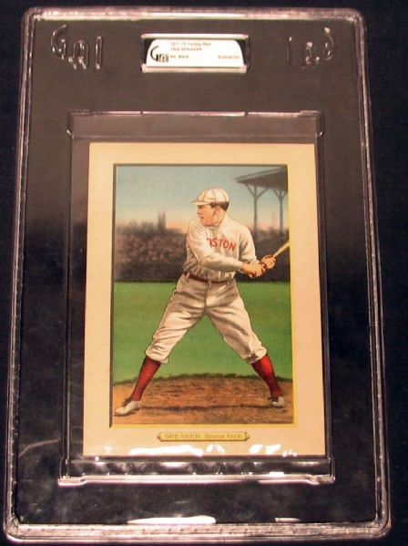 1911 T3 Turkey Red #36 Tris Speaker GAI Authentic