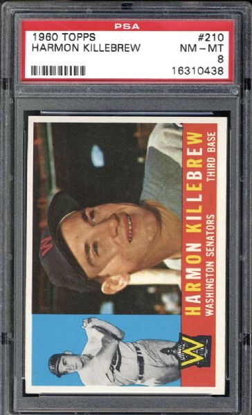 1960 Topps #210 Harmon Killebrew PSA 8 NM/MT
