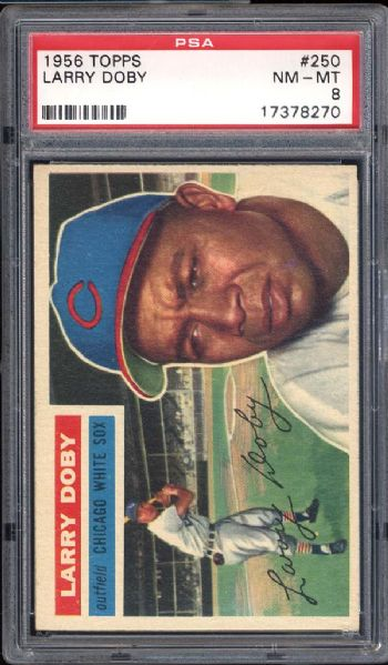 1956 Topps #250 Larry Doby PSA 8 NM/MT