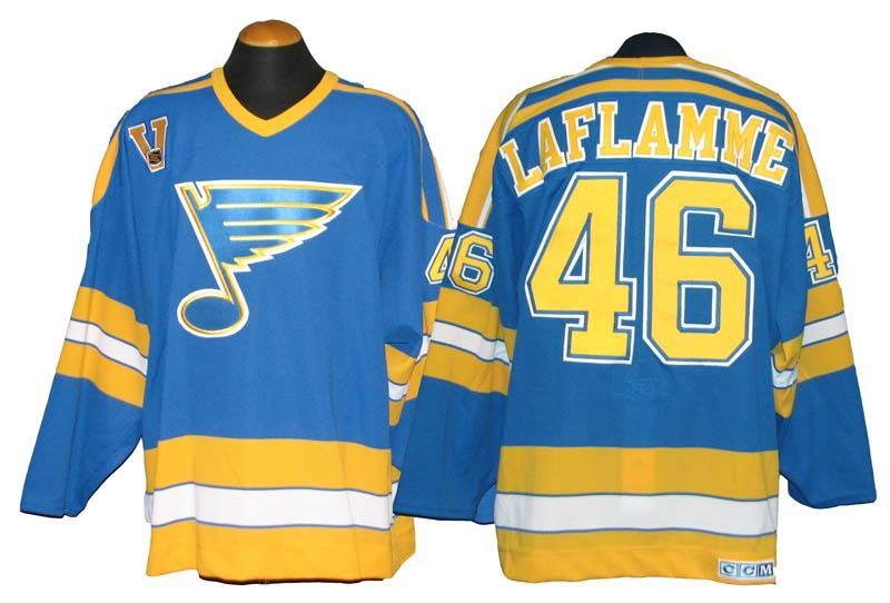 2dcc9a160 ... 2003 04 christian laflamme st. louis blues game used jersey