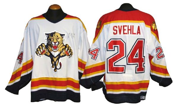 wholesale dealer b8b8c a9699 Lot Detail - 1990s Robert Svehla Florida Panthers Game-Used ...