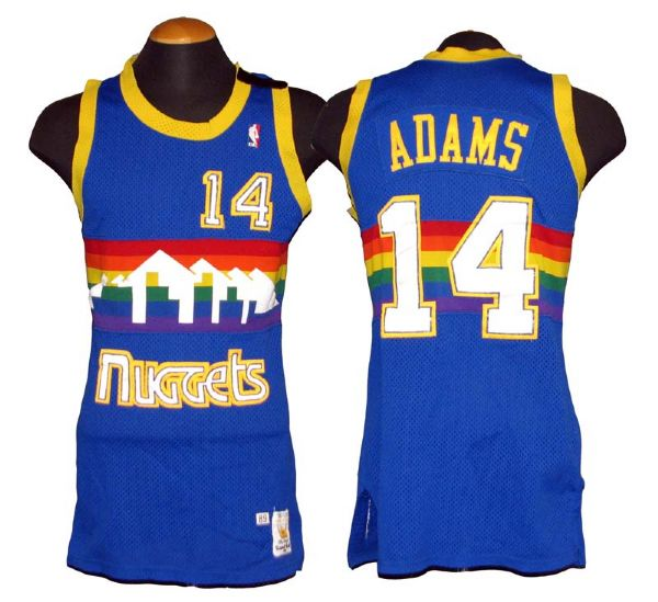 release date 853c8 c02ce Lot Detail - 1989-90 Michael Adams Denver Nuggets Game-Used ...