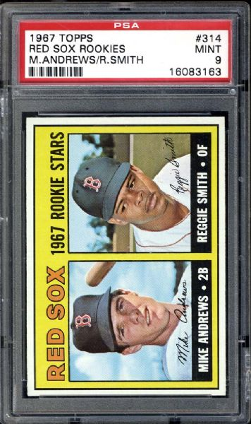 1967 Topps #314 Reggie Smith PSA 9 MINT