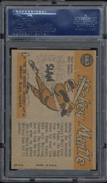 1960 Topps #563 Mickey Mantle All Star PSA 8.5 NM/MT+