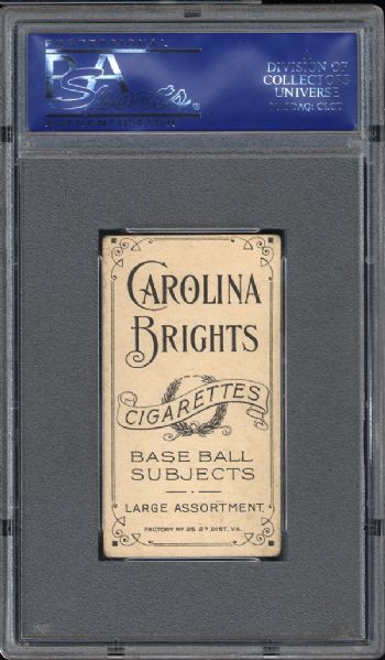 1909-11 T206 Carolina Brights Lena Blackburne PSA 4 VG/EX