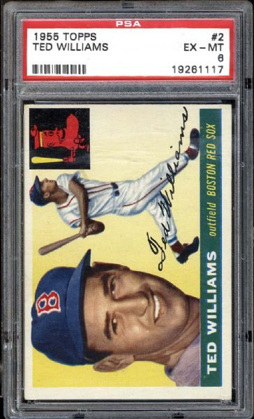 1955 Topps #2 Ted Williams PSA 6 EX/MT