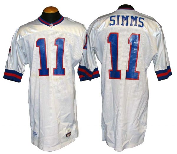 Lot Detail - 1991 Phil Simms New York Giants Game-Used Road Jersey