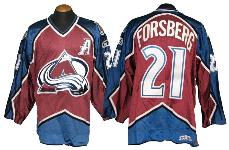 1998-99 Peter Forsberg Colorado Avalanche Postseason Game-Used Jersey ... 2d5afcf51cd