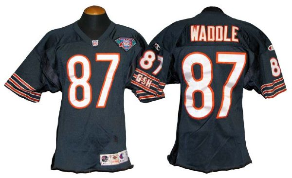 the best attitude cb541 2d611 Lot Detail - 1994 Tom Waddle Chicago Bears Game-Used Jersey