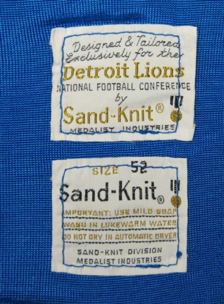 pretty nice e6037 77f2a Lot Detail - 1970s Jim Yarbrough Detroit Lions Game-Used Jersey