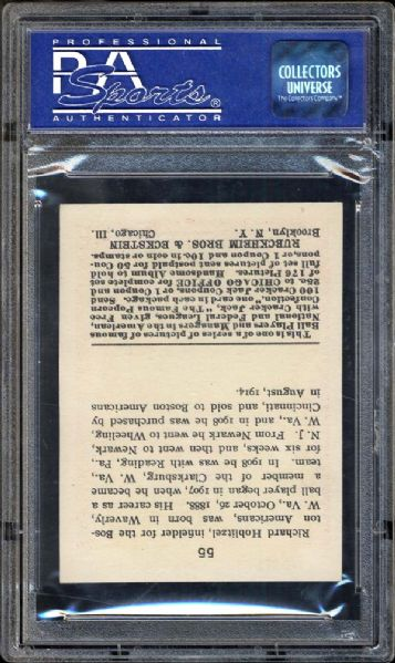 1915 Cracker Jack #55 Dick Hoblitzell PSA 8 NM/MT
