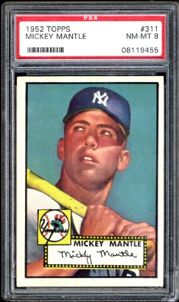vintage baseball, sports cards, Mickey Mantle