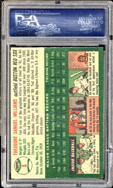 1954 Topps #1 Ted Williams PSA 5.5 EX+