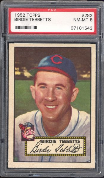 1952 Topps #282 Birdie Tebbetts PSA 8 NM/MT