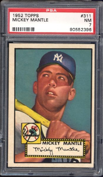 1952 Topps #311 Mickey Mantle PSA 7 NM