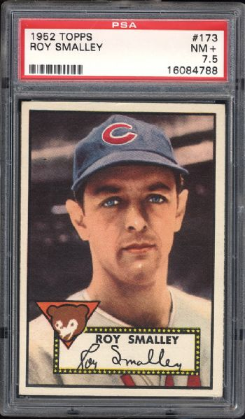1952 Topps #173 Roy Smalley PSA 7.5 NM+