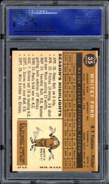 1960 Topps #35 Whitey Ford PSA 9 MINT