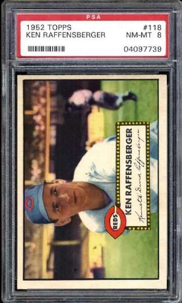 1952 Topps #118 Ken Raffenberger PSA 8 NM/MT