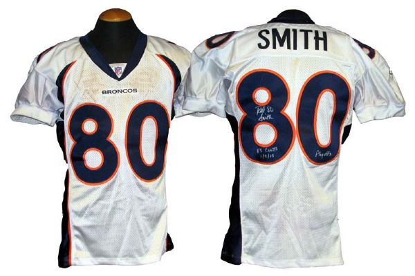 Lot Detail - 2004-2005 Rod Smith Denver Broncos Game-Used and ...