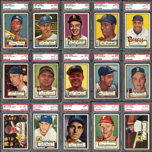1952 Topps Baseball Complete Set with Astounding GPA of 7.232 on PSA Set Registry