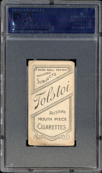 T206 Ty Cobb Portrait Red Tolstoi Reverse PSA 2.5 GOOD+