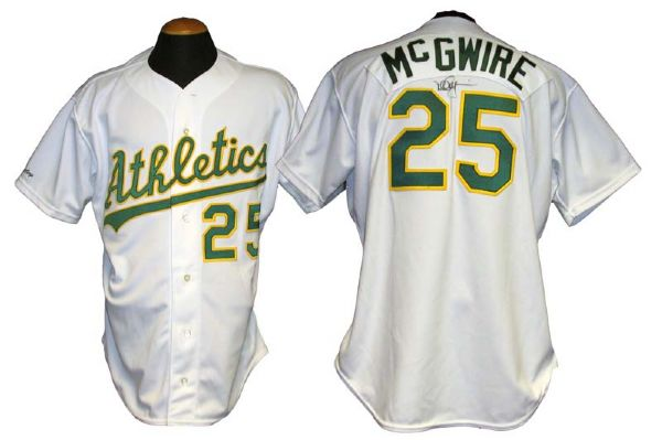 save off afe8f 458e6 Lot Detail - 1990 Mark McGwire Oakland Athletics Game-Used ...
