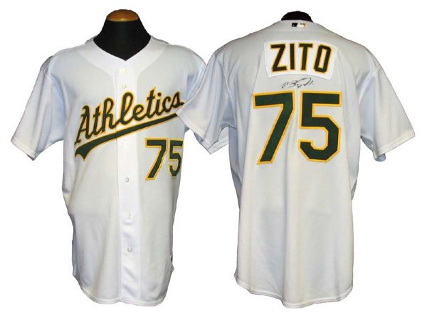 online store d3684 e5432 Lot Detail - 2006 Barry Zito Oakland Athletics Game-Used and ...