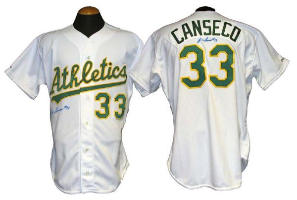 factory price 0fd77 7b06e Lot Detail - 1990 Jose Canseco Oakland Athletics Game-Used ...