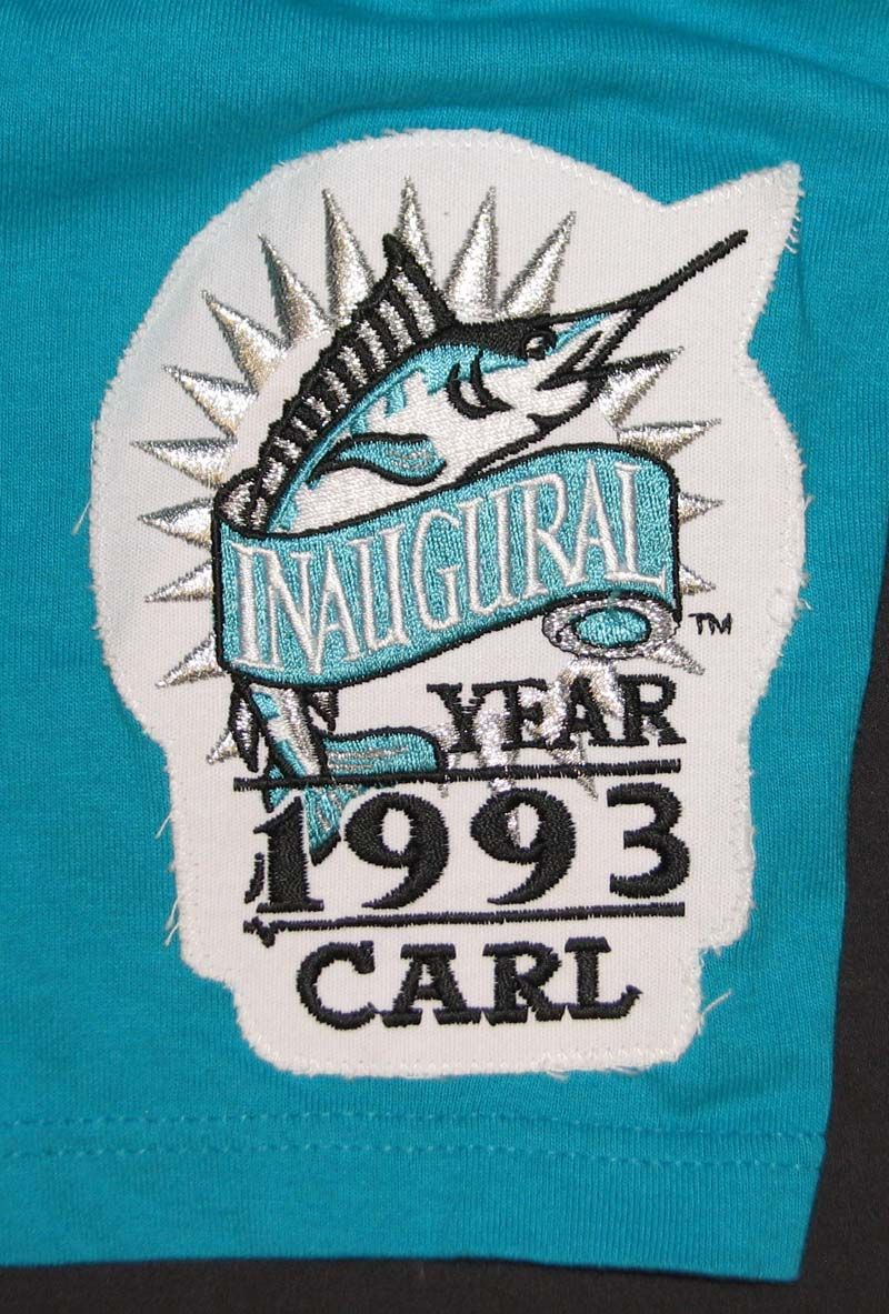 99db26e0b ... 1993 Scott Pose Florida Marlins Inaugural Season Game-Used Jersey Vest  and Undershirt ...