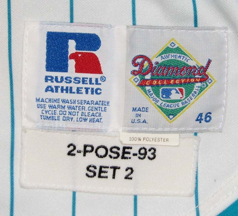 87a635fca ... 1993 Scott Pose Florida Marlins Inaugural Season Game-Used Jersey Vest  and Undershirt