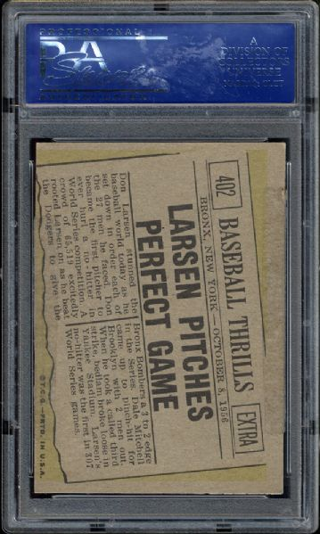 1961 Topps #46 AL ERA Leaders PSA 9 MINT