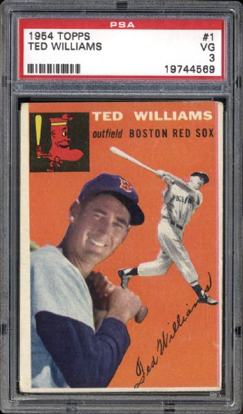 1954 Topps #1 Ted Williams PSA 3 VG