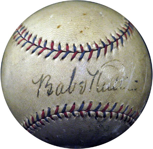 Spectacular and Incredibly Rare Babe Ruth and Al Capone Signed OAL (Harridge) Ball The Only Known Example