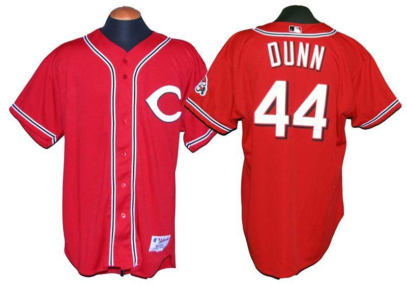 1a5c765e837 ... 2004 adam dunn cincinnati reds game used jersey