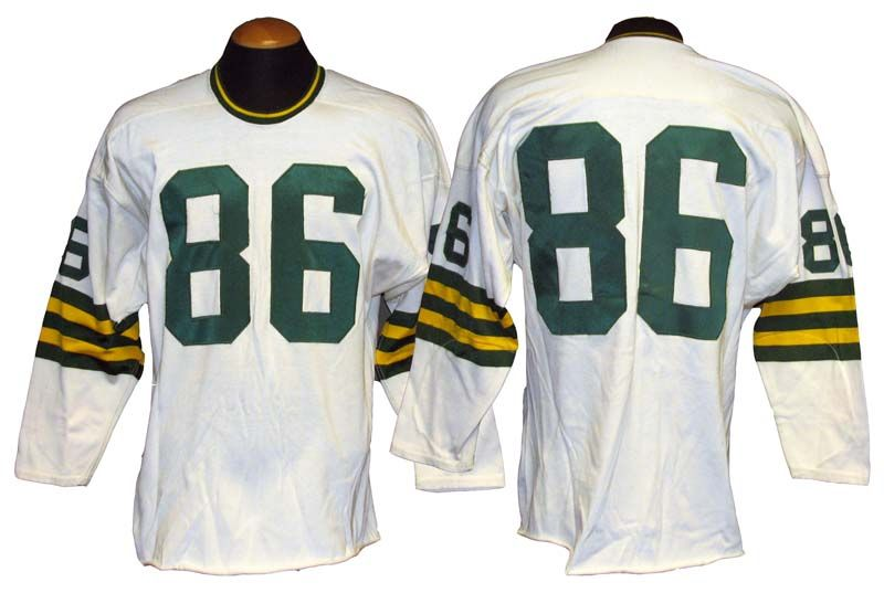 Image result for 1960s packers jersey auction