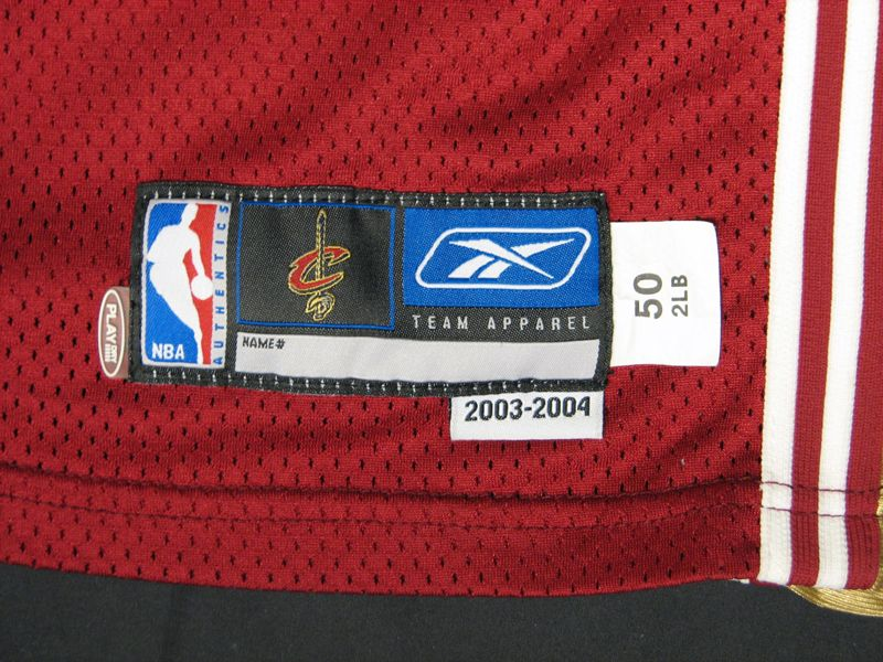 41e32a1ec4fc ... 2003-2004 LeBron James Cleveland Cavaliers Rookie Year Game-Used Jersey