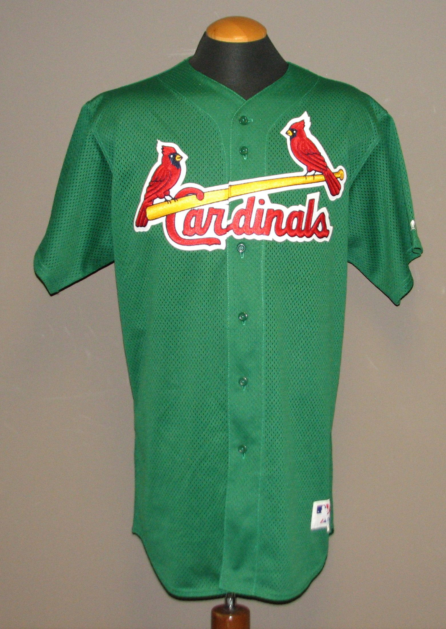 0473f967e3e 2005 Mike Myers St. Louis Cardinals St. Patrick s Day Game-Used Spring  Training ...