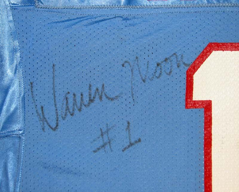 bf6c83b81e9 Lot Detail - 1990 Warren Moon Houston Oilers Game-Used and Signed Jersey