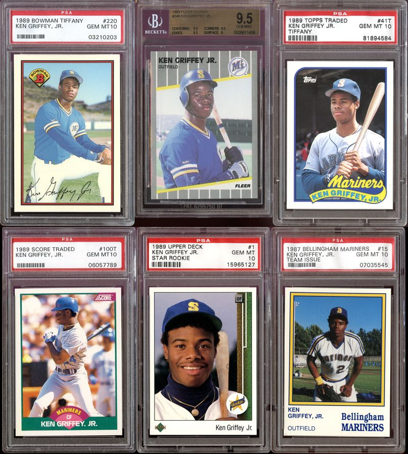 9fea1a8b03 Lot Detail - 1987-1989 Ken Griffey Jr. Rookie Card Collection of (20 ...