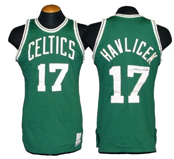 low priced dae41 f38cb Lot Detail - 1970s John Havlicek Boston Celtics Game-Used ...